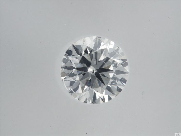 1 pcs Diamante - 0.37 ct - Brilhante - F - VS2