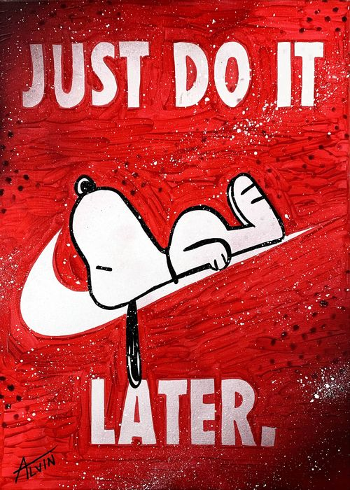 Alvin Silvrants - Snoopy Just do it later Nike