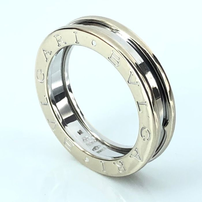 Bvlgari - B. Zero 1 Collection - 1 Band, Big Size 51 (EU) - 18kt. White gold - Ring