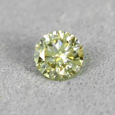 鑽石 - 0.23 ct - 明亮型 - N.Very Light Brownish Yellow - VS2 - NO RESERVE PRICE