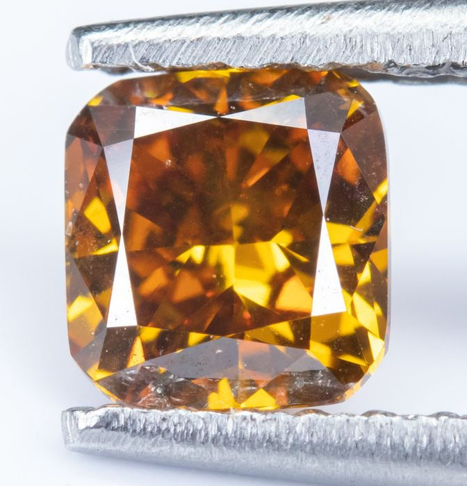 Diamante - 0.52 ct - Natural fantasia DEEP laranja amarelada - VS2  *NO RESERVE*
