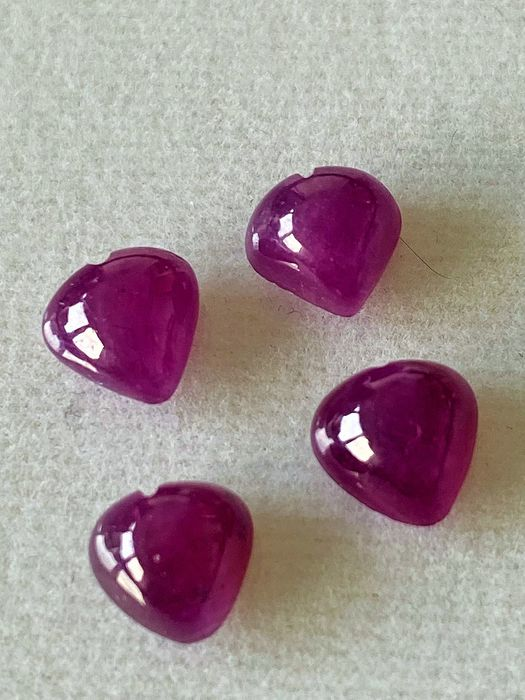 4 pcs Red Ruby - 4.54 ct