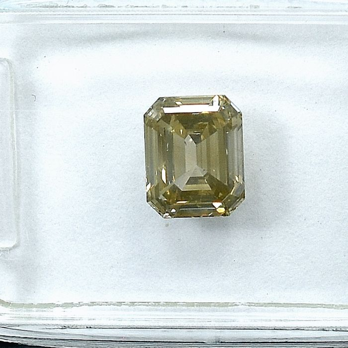 Diamond - 1.03 ct - 祖母绿 - U-V,Light Yellowish Brown - Si1 - NO RESERVE PRICE