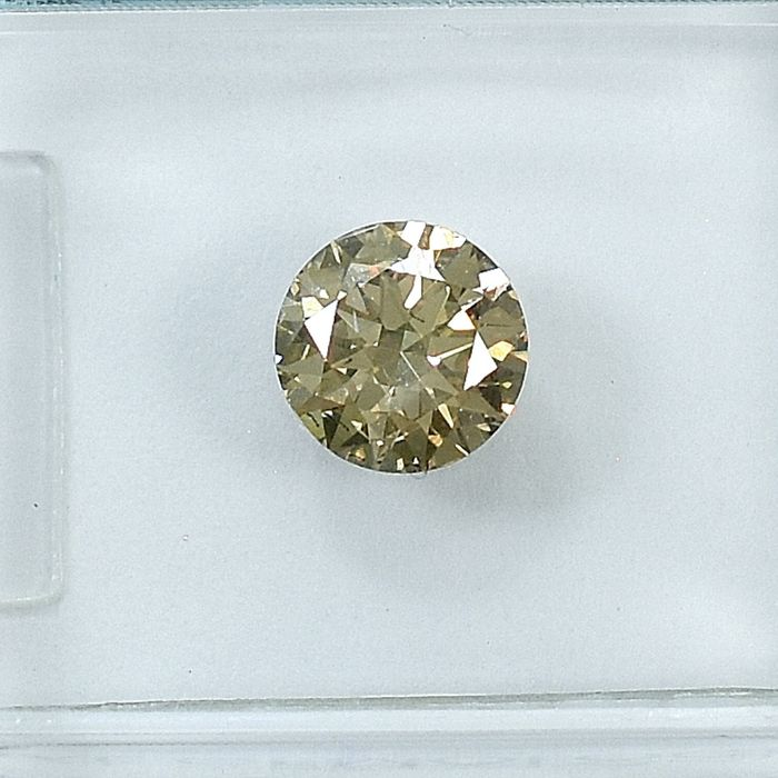 Diamante - 0.71 ct - Brilhante - Natural Fancy Light Brown - Si2 - NO RESERVE PRICE