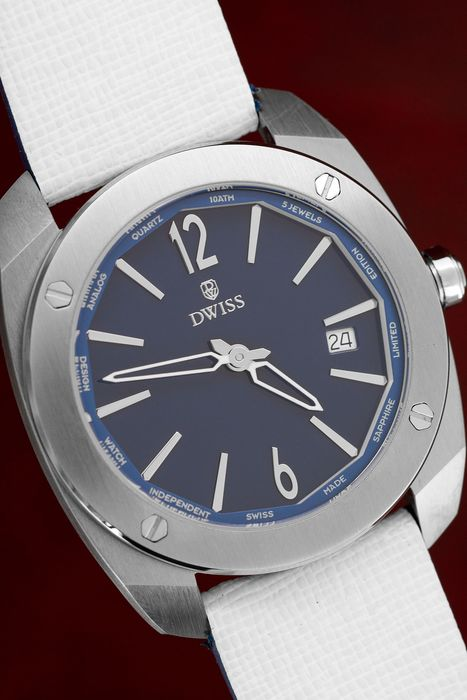 """DWISS - Limited Edition Swiss Made Steel Leather Strap - RS1-SL Q """"NO RESERVE PRICE"""" - Unisex - Brand New"""