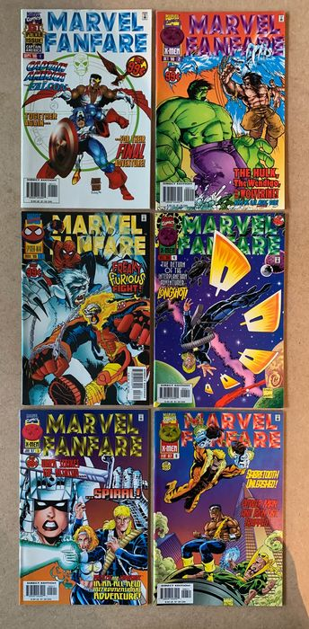 Heroes On Their Own - 54X Complete Limited Series Marvel Fanfare, Marvel Universe, Invaders, Code of Honor, Marvel Double Shot, Over the Edge - Citizen V, Union Jack, Illuminator, Wonder Years, Spider-Man, Avengers, Captain America - Capa mole - Primeira edição - (1992/2003)