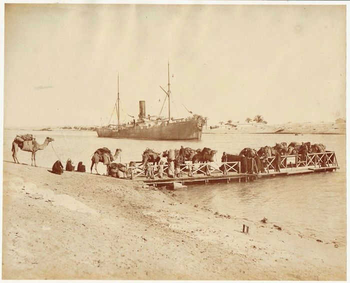 Unknown - Ship at landing jetty, Suez Canal, Egypt