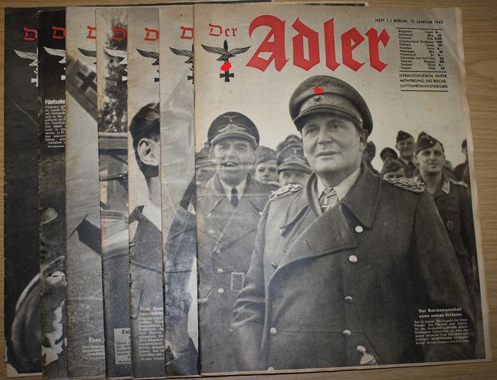 Alemania - The Eagle Nos. 1, 10, 13, 14, 15, 18 y 25 - 1943