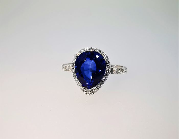 18 carats Or blanc - Bague - 3.13 ct - Diamants
