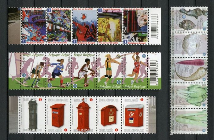 Belgique 2011 - Complete year with blocks - OBP / COB 4089/4193 + BL 186/196