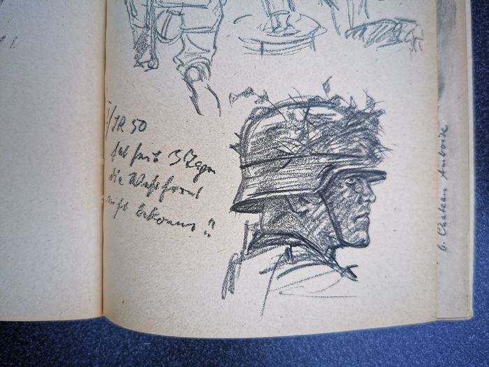 Germany - Ernst Eigener - My sketchbook - World War II France Wehrmacht drawings - Book - 1941