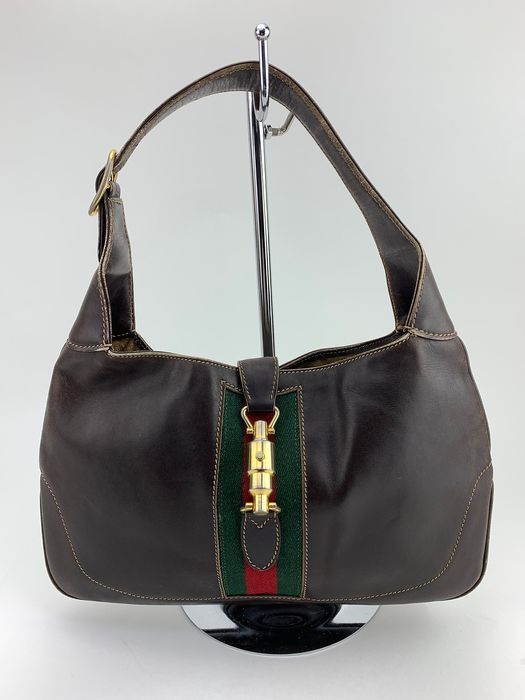 Gucci - OLD GUCCI-Shelly Brown Leather Tote bag