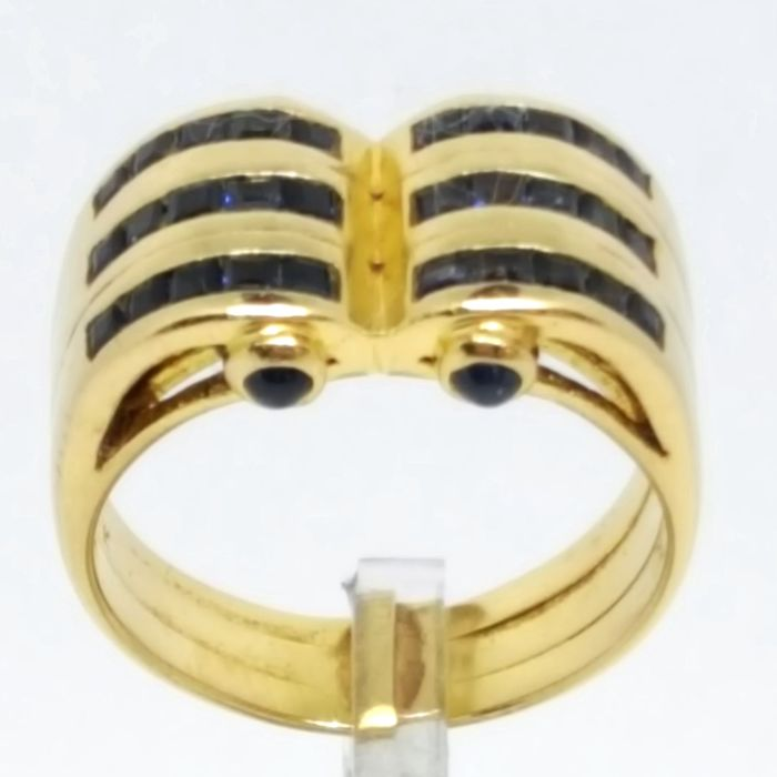 18 kt. Yellow gold - Ring - 0.57 ct Sapphire