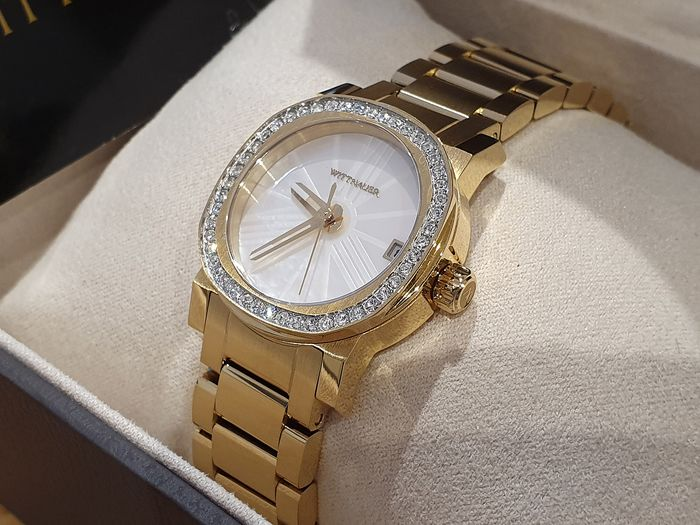 Wittnauer - Lady luxury gold plated watch with real crystals - Damen - 2011-heute