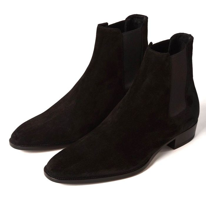 Saint Laurent - Wyatt Suede Laarzen - Maat: IT 41