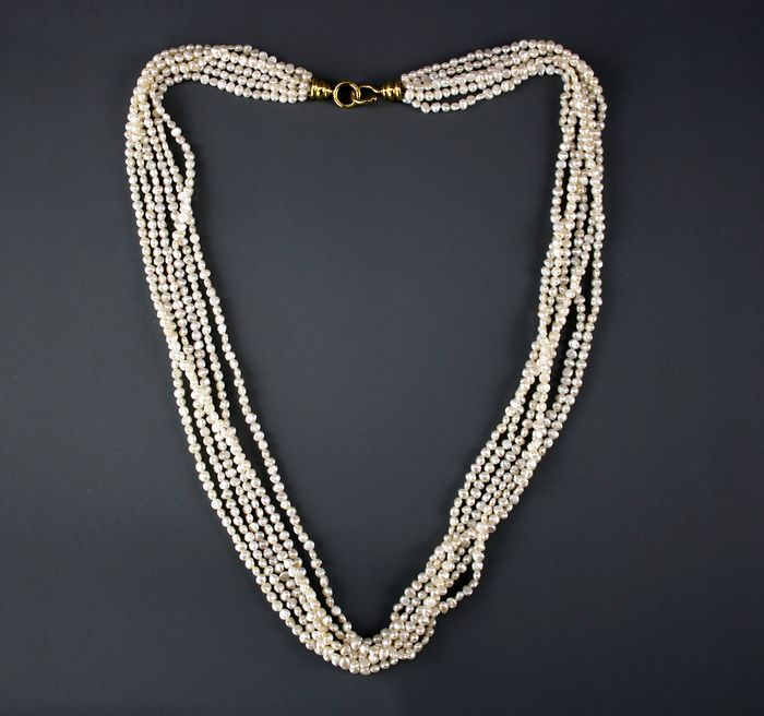 Tiffany - 18 kt. Freshwater pearls, Yellow gold - Necklace