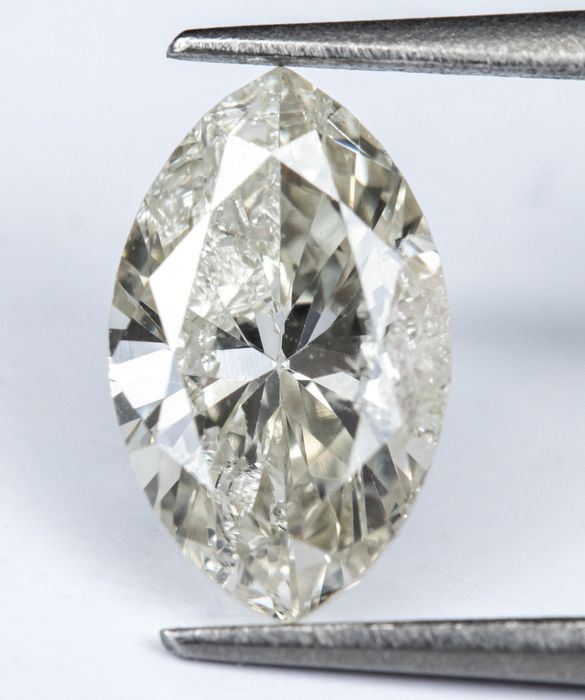 Diamante - 0.74 ct - Branco Natural - cor K - I1  *NO RESERVE*