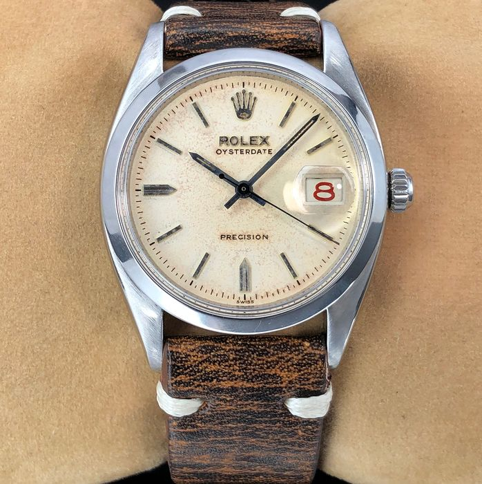 Rolex - Oyster Precision Red/Black Roulette - 6494 - Unisex - 1950-1959