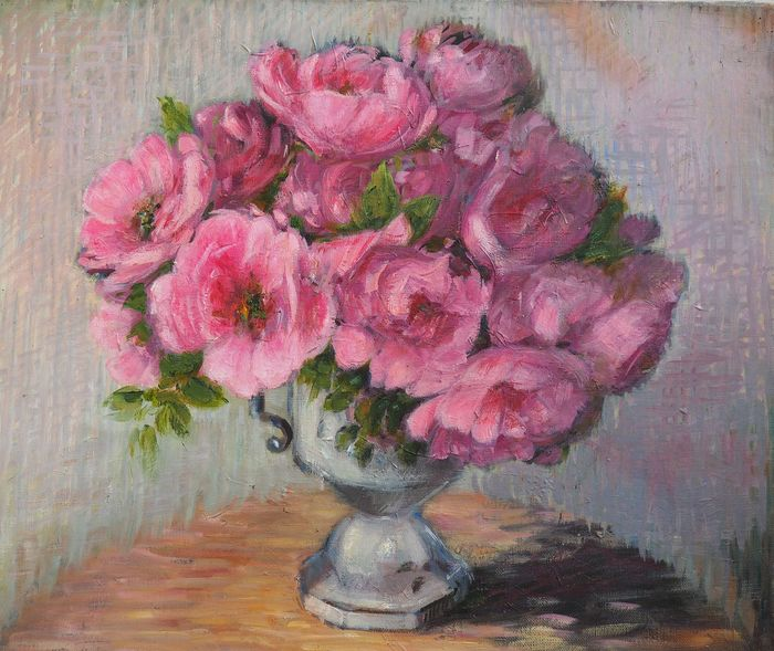 Nelly Cathala-Mongoin (1916-) - Roses