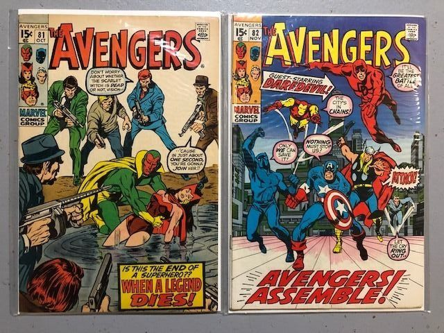 The Avengers 81 and 82 - Lot of two great issues of the Avengers - Capa mole - Primeira edição - (1970)