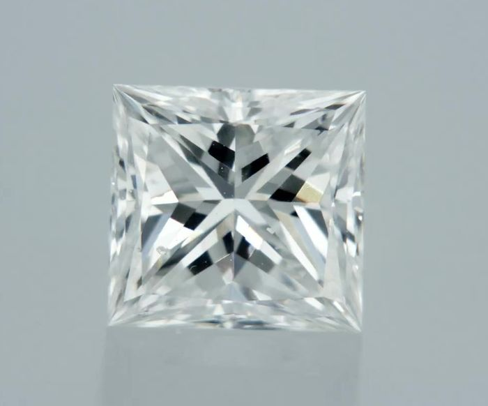 1 pcs Diamante - 0.54 ct - Princesa - D (incolor) - SI1