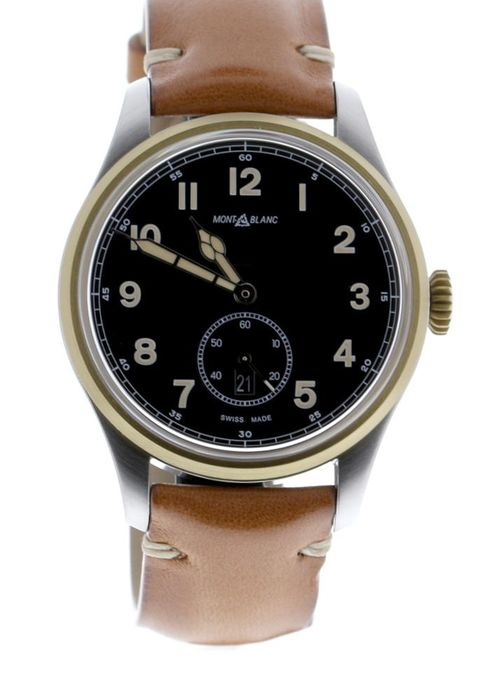 Montblanc - 1858 Automatic Dual Time Steel/Bronze Black Dial - 116479 - Unisex - 2019