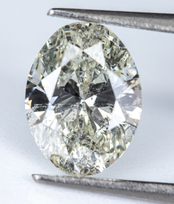 Diamante - 0.76 ct - Branco Natural - eu colo - I1  *NO RESERVE*