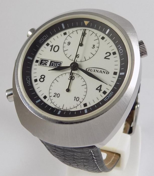 Guinand - Left-Handed Automatic Chronograph - Luminous Dial  - 7750 - Herren - 1980's