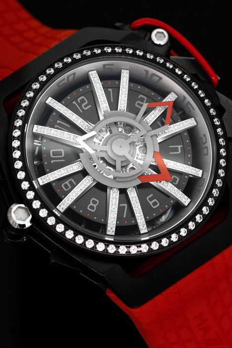Mazzucato - Single Piece Edition Reversible RIM Watch Red - Diamond Red - Herren - BRAND NEW