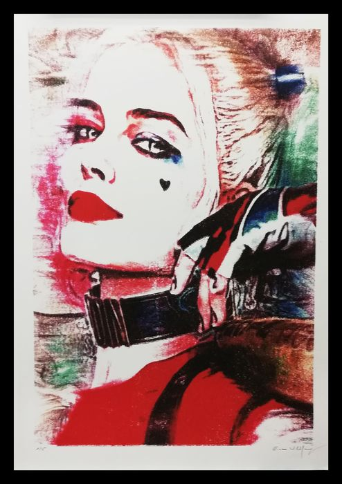 Wildfang, Emma - LARGE FORMAT - Limited Edition 1/5 - HARLEY QUINN - Obra de arte - (2019)