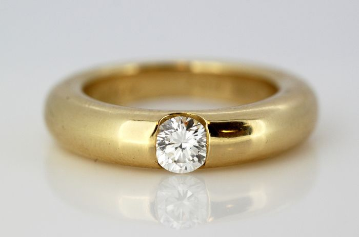 Cartier - 18 kt. Yellow gold - Ring - 0.45 ct Diamond