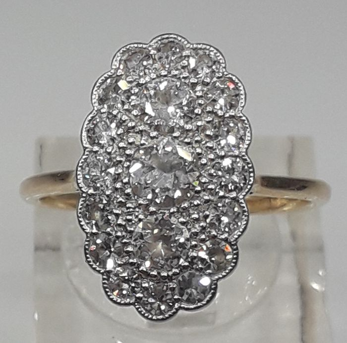 18 quilates Oro amarillo - Anillo - 1.60 ct Diamante