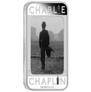 Tuvalu - 1 Dollar 2014 Charlie Chaplin Anniversary 100 years of Laughter 1oz - Silver
