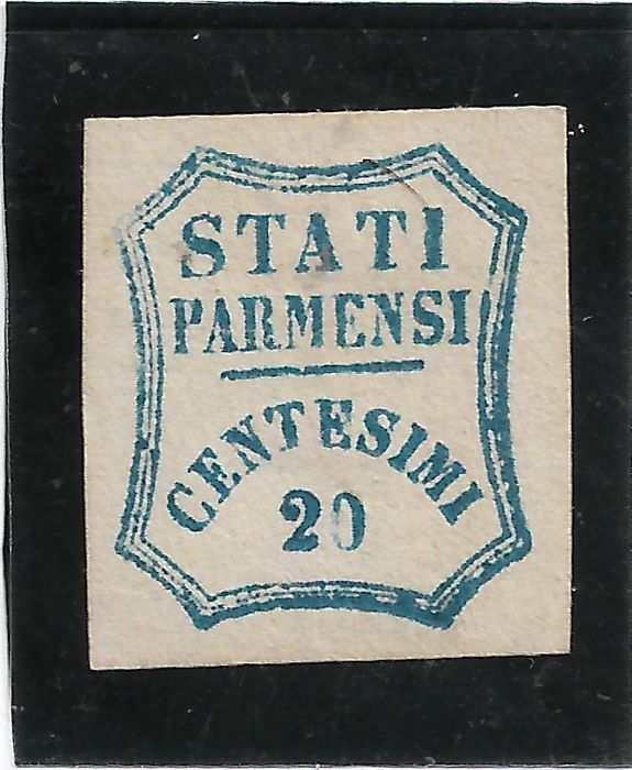 Parma 1859 - 20 cents light blue and 40 cents vermilion - Sassone NN. 15, 17