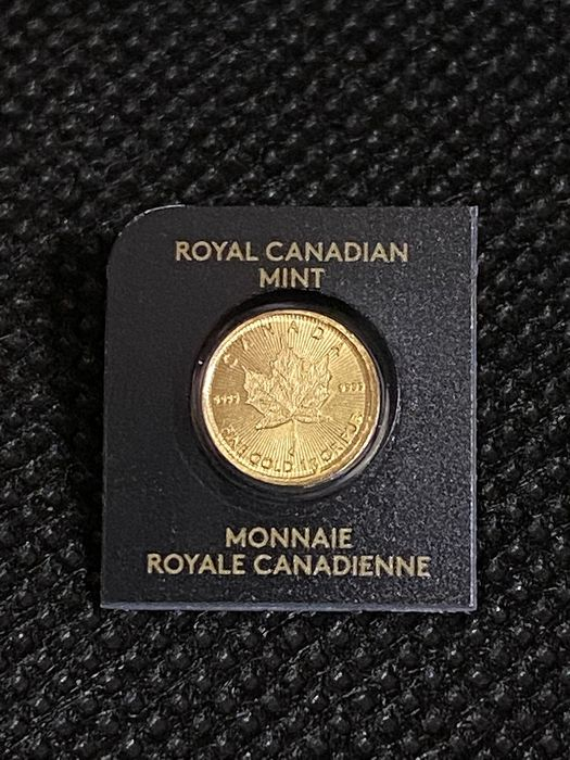 Canadá - 0,5 Dollar 2020 Royal Canadian Mint Maple Leaf Maplegram Goldmünze in Blister mit Zertifikat - Ouro