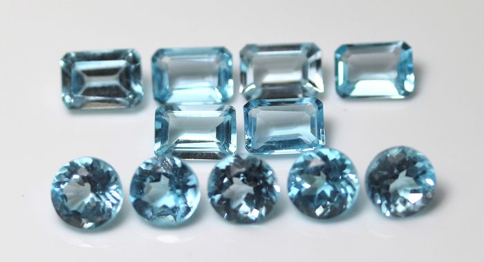 11 pcs  Topaze - 13.04 ct