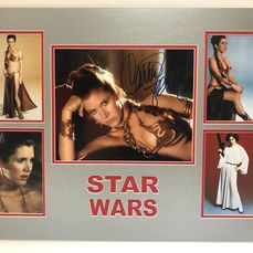 Star Wars - Carrie Fisher - 1 - Autografo, Foto (Princess Leia) - signed photo with Coa, mounted