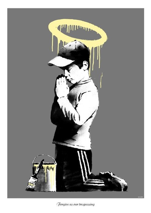 Banksy x Don't Panic - Forgive Us Our Trespassing