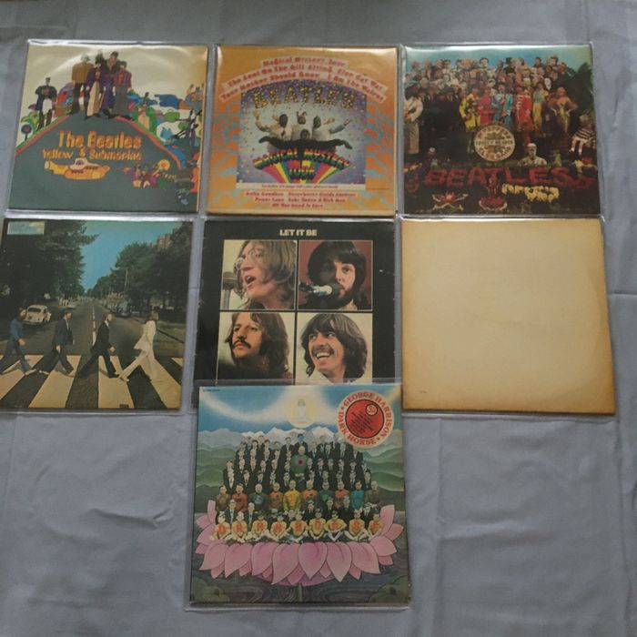 Beatles & Related - Yellow submarine,magical mysterie tour,st'Peppers lonely Hearts club band,Abbey road,white album. - Multiple titles - LP Album - 1967/1974