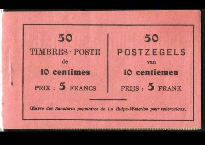 Belgium 1914 - Complete and MNH stamp book A15b - OBP / COB A15b