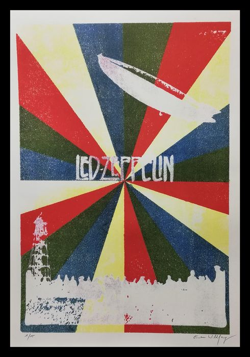 Led Zeppelin - Large Format - by Emma Wildfang - Artwork/ Painting, Limited Edition 3/15 - 2019/2019