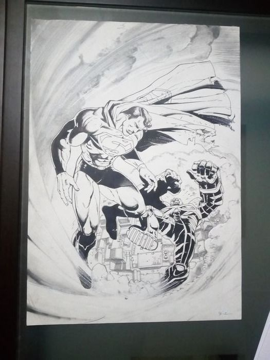Superman - Original published page by simon bisley - First edition - (1998)