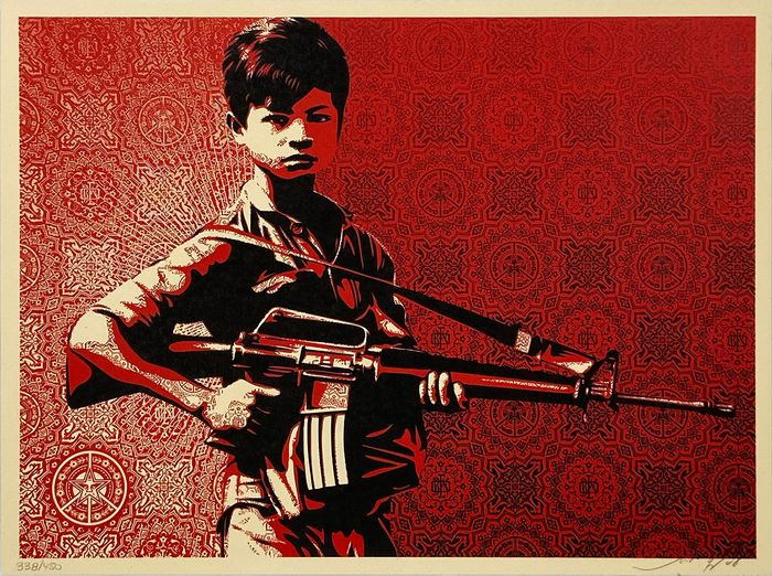 Shepard Fairey (OBEY) - 'Duality of Humanity #4'
