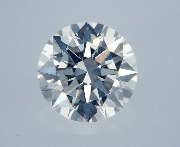 1 pcs Diamant - 1.00 ct - Rund - G - VS2