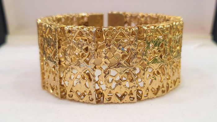 SARAH COVENTRY 18kt verguld - exclusieve brede armband