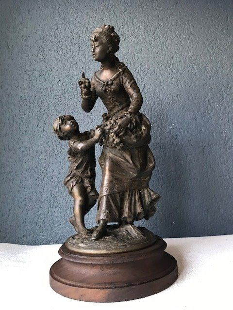 Sculpture - Spelter, Wood - about 1900