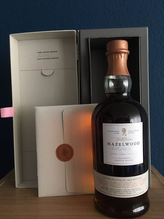 William Grant Hazelwood Janet Sheed Roberts for 110th Birthday. very lim.edition - 70cl