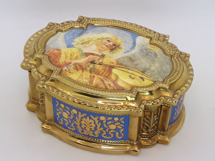 House of Fabergé - Fabergé, Franklin Mint - Muziekdoos - Porselein, Verguld