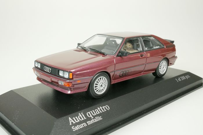 MiniChamps - 1:43 - Audi quattro - 1980 - saturn metalico - 288 pcs !!!