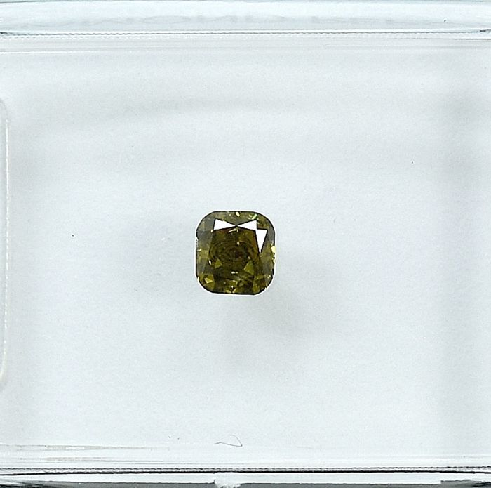 Diamond - 0.18 ct - Cushion - Natural Fancy Deep Brown-Yellow - Si2 - NO RESERVE PRICE